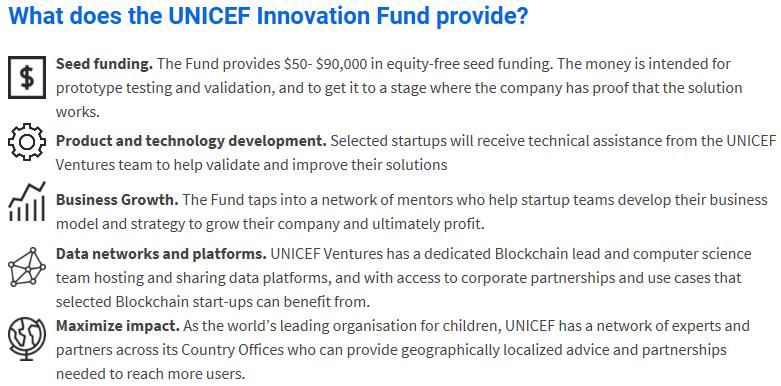 Инновационный фонд ЮНИСЕФ проинвестирует блокчейн-стартапы