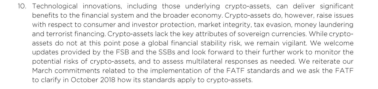 Цитата из обращения G20 к ФАТФ