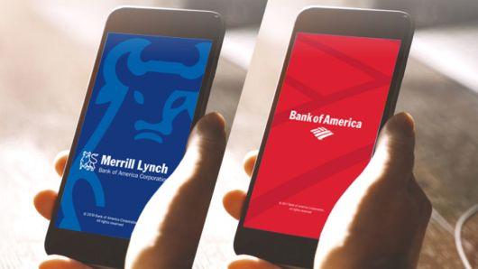 Новая функция в приложении BofA позволяет переключаться между мобильными сервисами без аутинтефикации / Источник: Bank of America