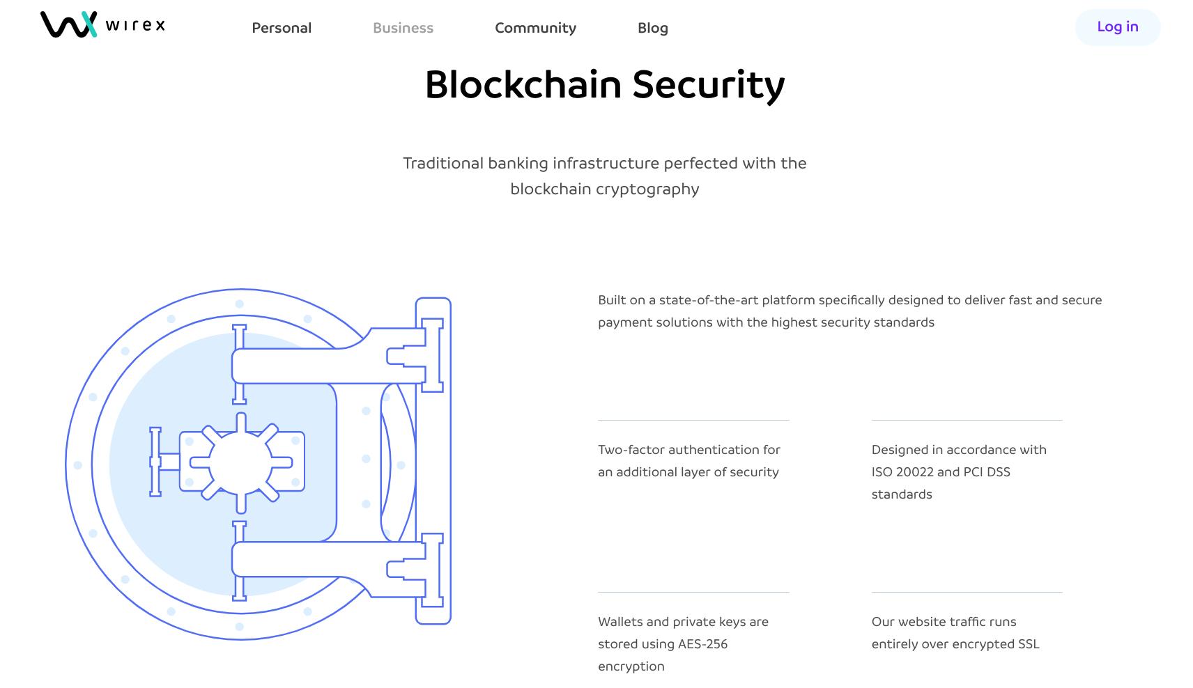Скриншот платформы Wirex
