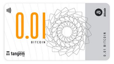 Bitcoin-банкнота Tangem номиналом 0,01 BTC