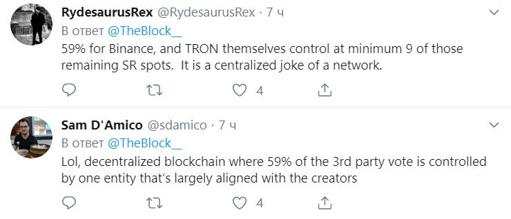 Binance стала крупнейшим производителем блоков TRON
