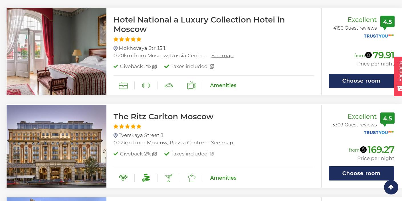 Популярный сервис предложил бронировать отели в 230 странах в Tether