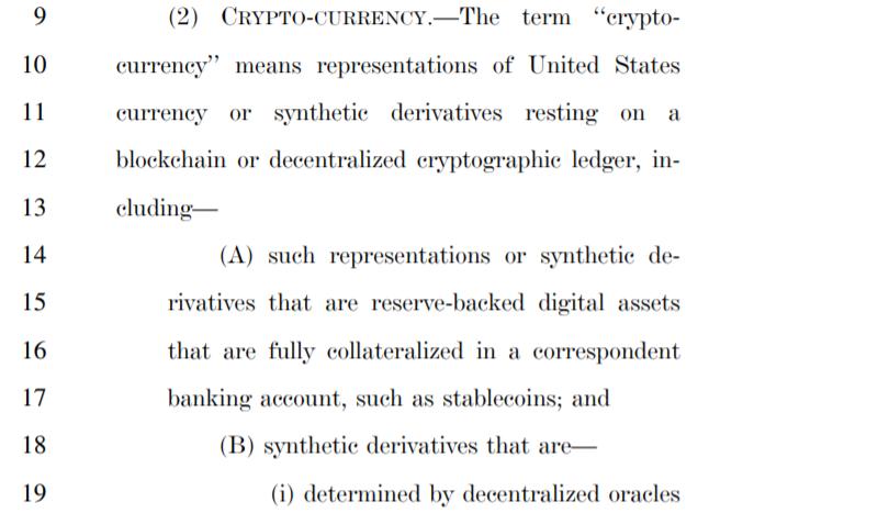Америка представила законопроект о регулировании криптовалют