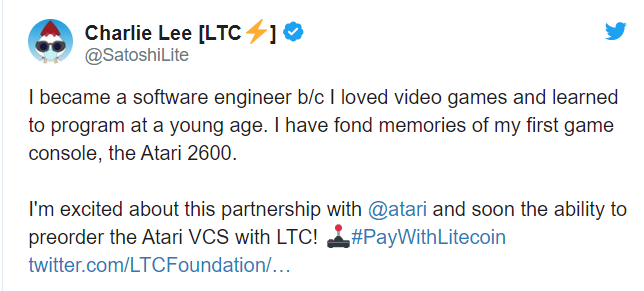 Старейший производитель видеоигр стал партнером Litecoin