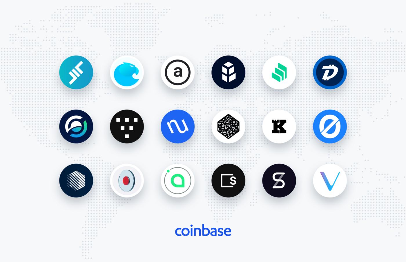 Coinbase хочет реабилитироваться при помощи 18 криптовалют
